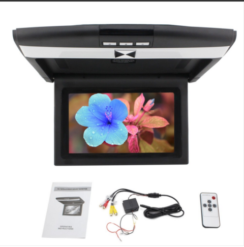10 1 Inch Digital Screen Monitor Widescreen Tft Lcd Overhead Monitor Universal Black Color Flip Down Tv Roof Mount Video Monitors Android Car Stereo Car Videos