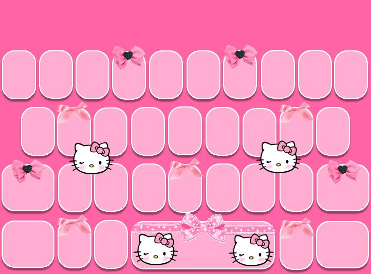 Blush Kitty Go Keyboard Skin Freebie Pretty Droid Themes Hello Kitty Themes Hello Kitty Backgrounds Wallpaper Iphone Roses