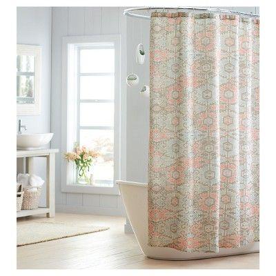 Aztec Print Shower Curtain Threshold Nest Brown Shower