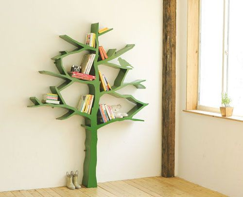 Designer book shelf tree by Shawn Soh