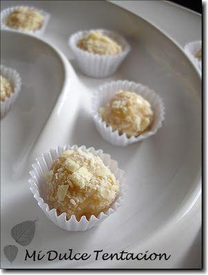 Mi dulce tentación: Trufas de Chocolate Blanco