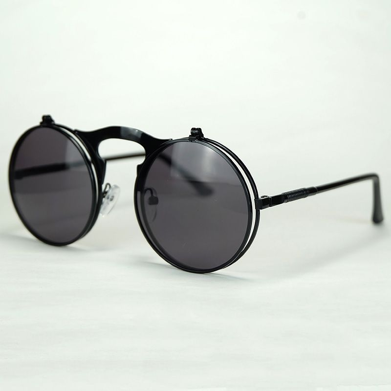 dac916a402f Click to Buy    The Classical Round Sunglasses Clamshell Design Double  Lenses Multifunctional Eyewear Metal Frame With Flexible Hinge  Affiliate