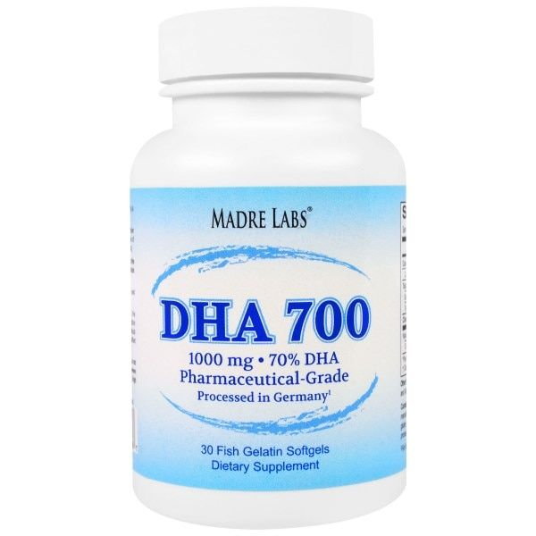 Madre Labs Dha 700 Fish Oil Pharmaceutical Grade 1000 Mg 30