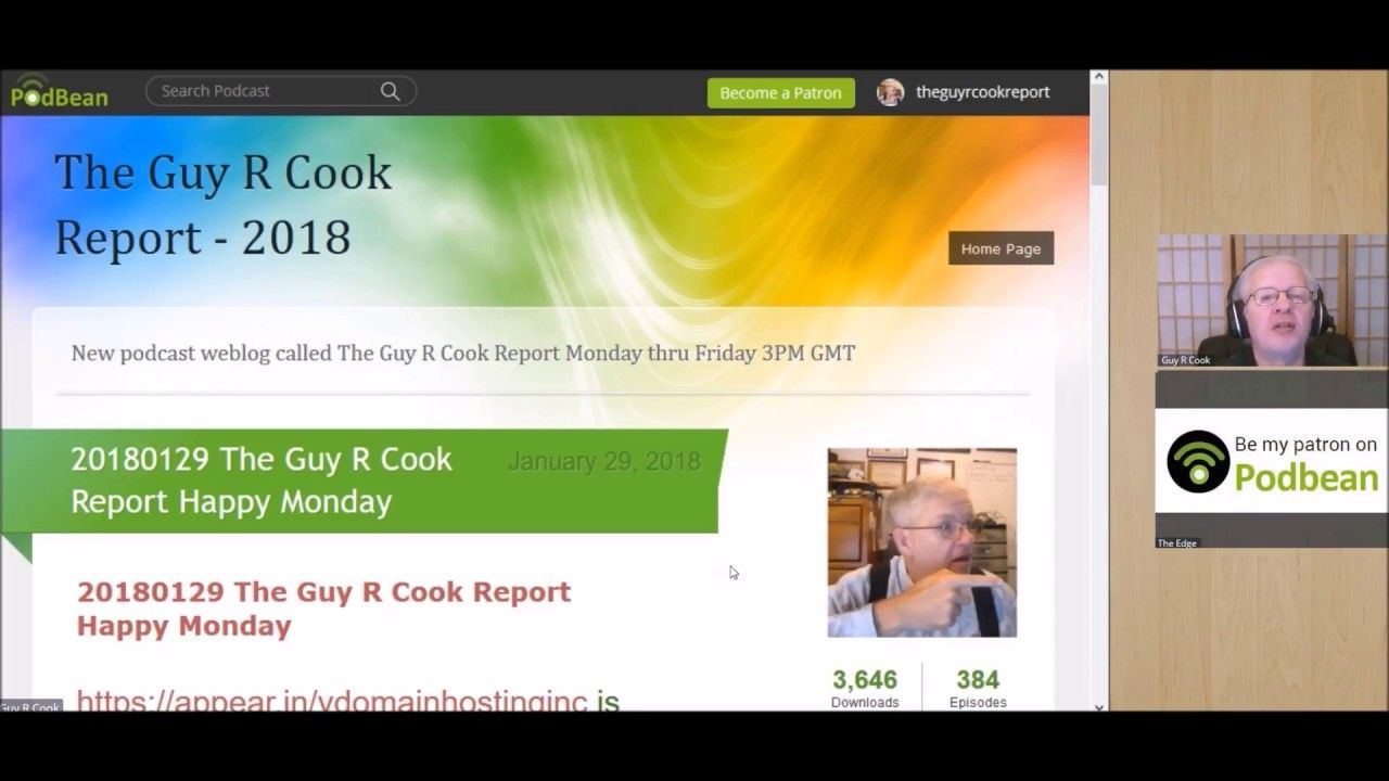 20180129 The Guy R Cook Report Happy Monday for how to