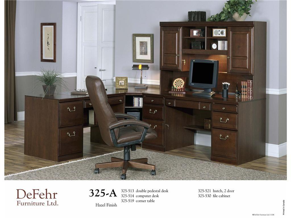 Defehr Furniture Home Office Double Pedestal Desk 325 513   Sims Furniture  LTD   Red