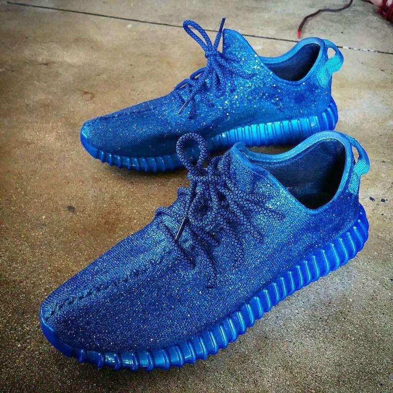 adidas Yeezy 350 Boost Bluezy Custom by Kickasso - adidas Yeezy 350 Boost Customs | Sole Collector