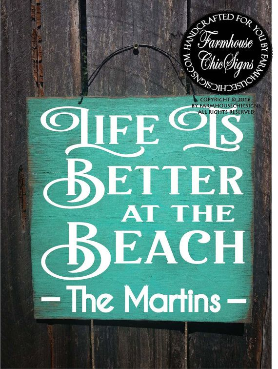 Beach Sign Decor Magnificent Beach House Sign Beach House Decoration Personalized Beach House Inspiration