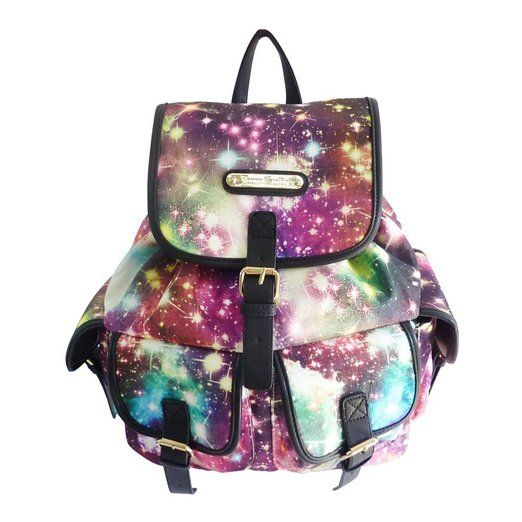 Anna Smith Cosmos Galaxy Print Rucksack/Backpack Bag Multi