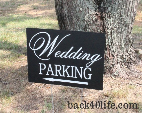 Painted Wedding Parking Directional Sign W 020 Back40life Etsy In 2020 Wedding Signage Wedding Signs Wedding Info