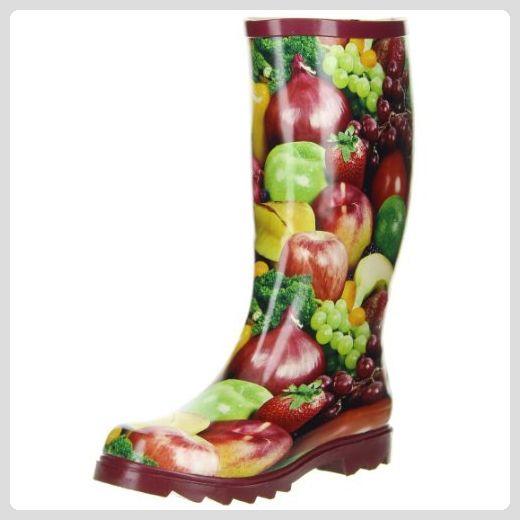 ConWay Damen Gummistiefel (Gemüse & Obst) mehrfarbig, Größe:37;Farbe ...