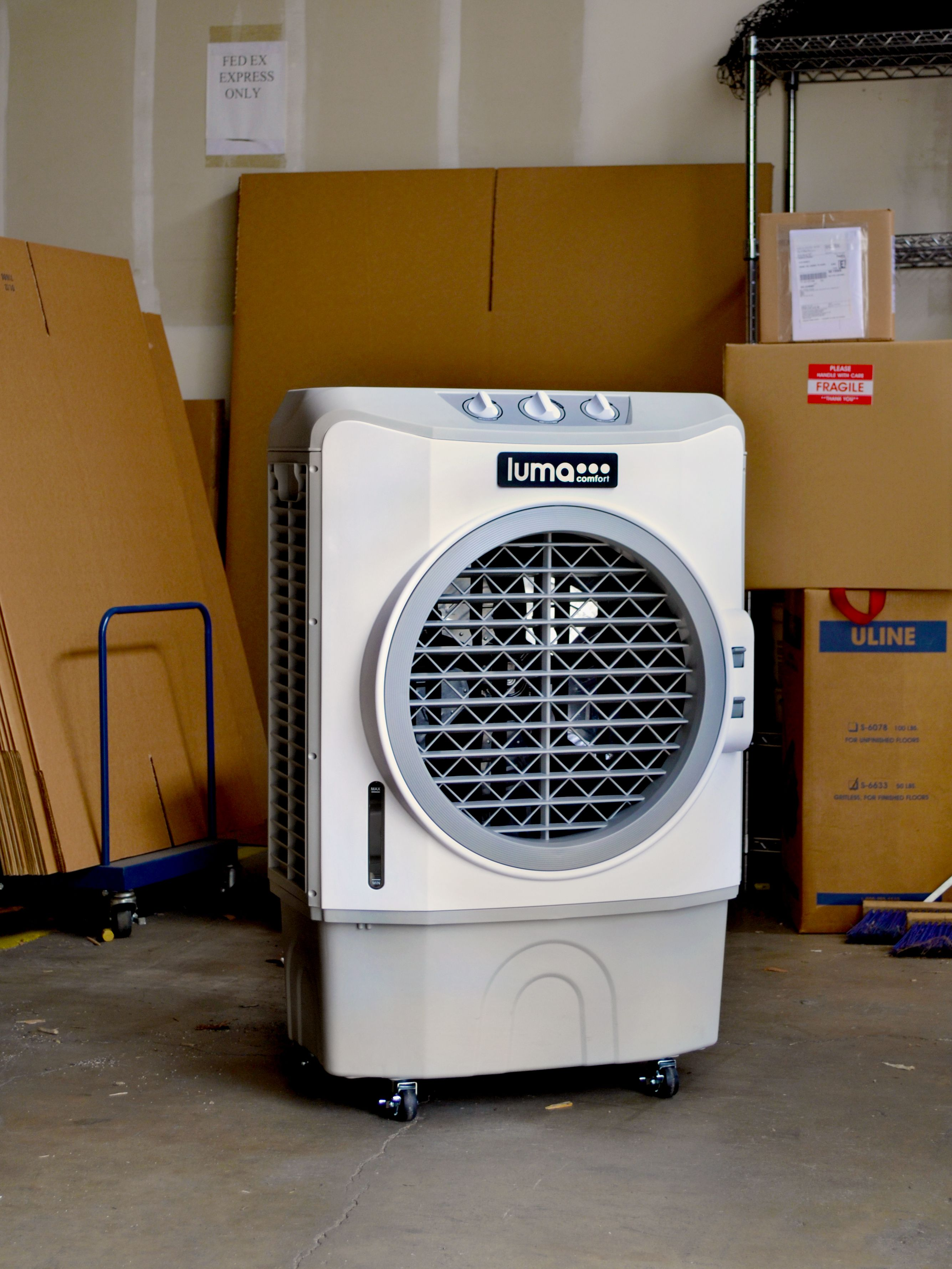 The EC220W Portable Evaporative Cooler keeps our warehouse ...