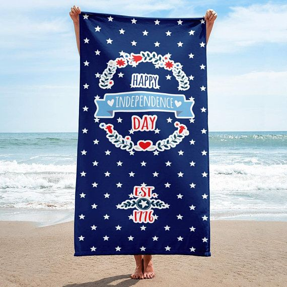 Independence Day Beach Towel Fourth Of July Beach Towel 4th Of