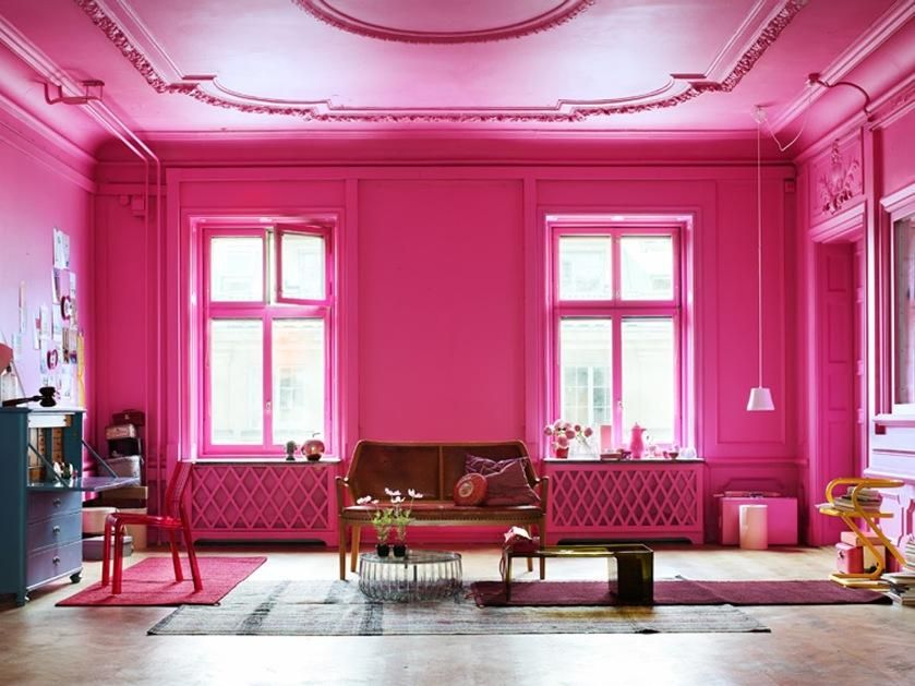 Bright Living Pink Room Design With Loveseat And Coffee Tables And Home  Office Desk And Rugs   Adorable Pink Room Design In The House In Home  Design and. HOUSE PAINTING SERVICES 2BHK REPAINT ASIAN PAINTS ROYAL LUXURY