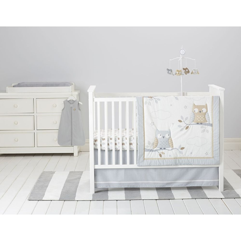 72909d20b16 Your little one will have many peaceful moments in a nursery themed with  sleepy owls and a serene night sky. The Cuddletime Starry Night Owls  Bedding ...