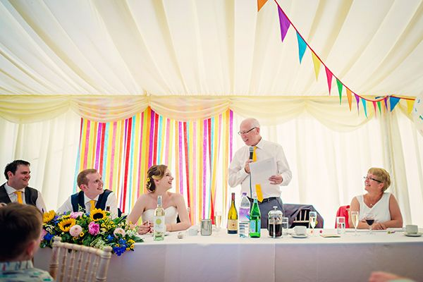 Multicolour Homemade Wedding Ribbon Backdrop http://www.photographybyvicki.co.uk/blog/
