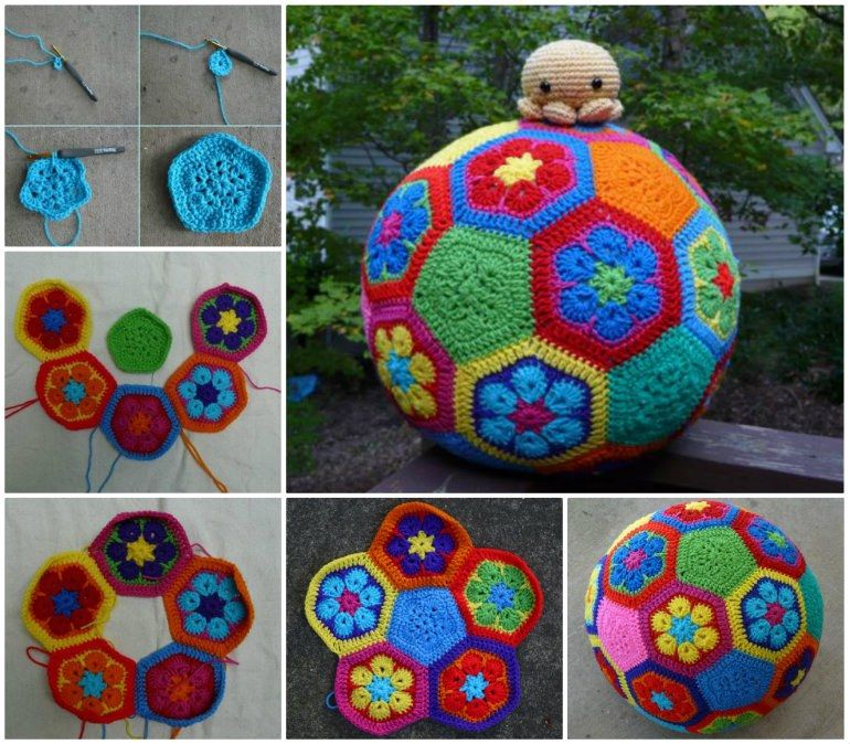 African Crochet Flower Pattern For Projects African Flowers