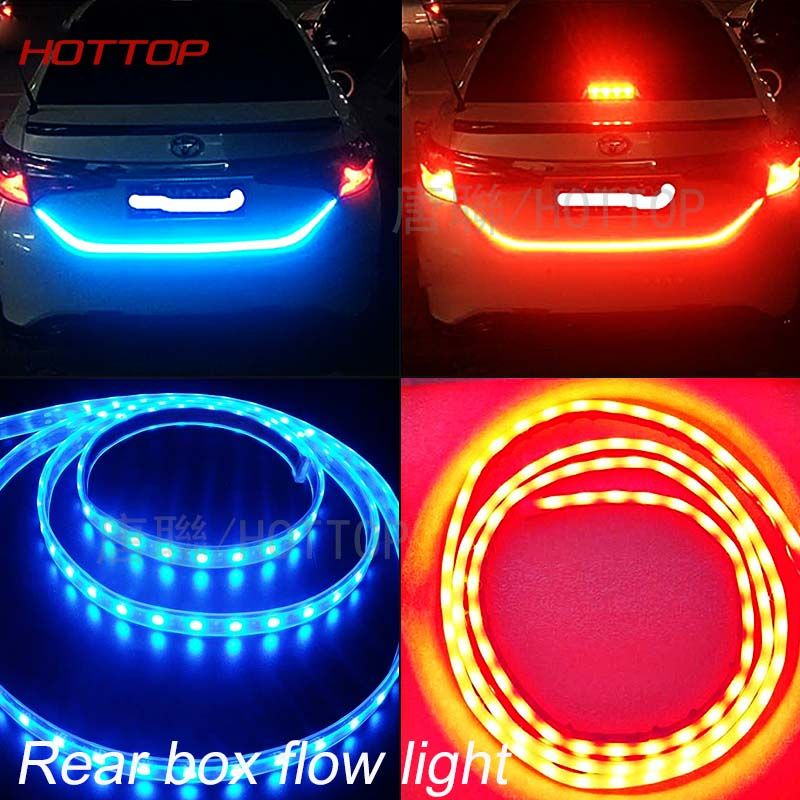 Led Light Strips For Cars Glamorous Led Light Color Flow Type On Trunk Box Light With Side Rear Lights Design Ideas