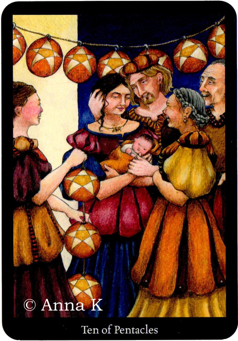 Ten of Pentacles P6 With the focus on the family, you may be more inclined to direct a lot of your energy into ensuring that your family has everything that they need, from finances, to security and a good home life. You want to ensure that your children and family will always have everything they need. The Ten of Pentacles shows how family, or even extended family, is incredibly important. It represents tradition, being a part of something bigger and realising that the blood of your…