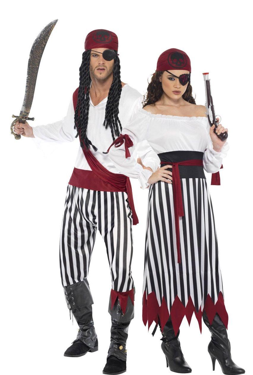 disfraz mujer pirata. pañuelo rojo. camisa blanca de mangas