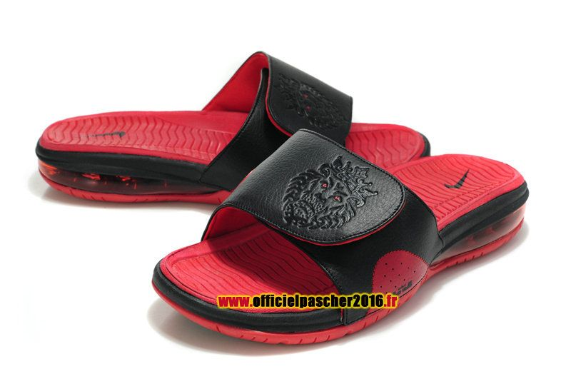 Officiel Nike LeBron 10/X Nike Air Sandales Nike 2016 Pas Cher Pour Homme  Noir