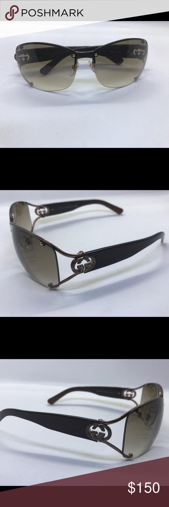 f0147083fbbc0 Gucci sunglasses for women Gucci GG 2820 F S Vtc5E Brown gradient rimless  wrap