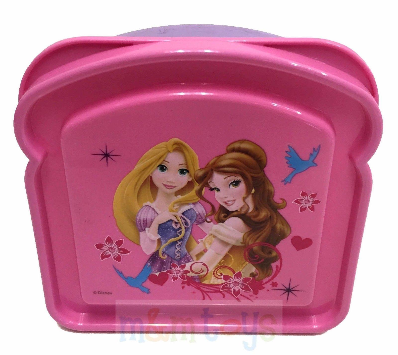 Disney princess rapunzel & belle sandwich box bread shaped container ...