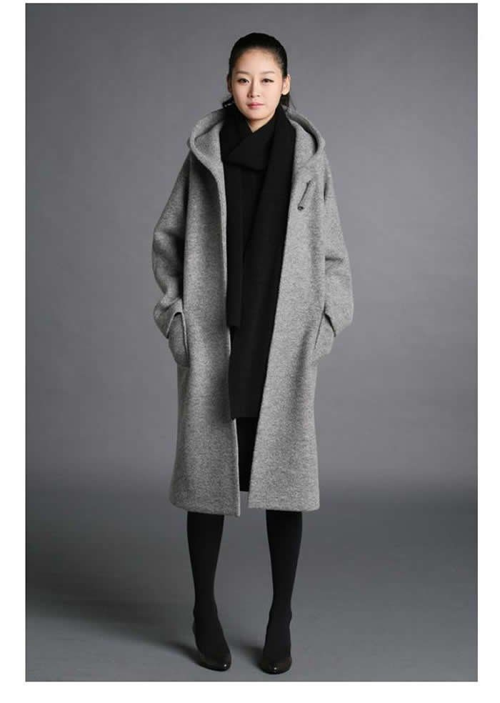 Fashion-Women-super-long-wool-coats-trench-coat-plus-size-winter ...