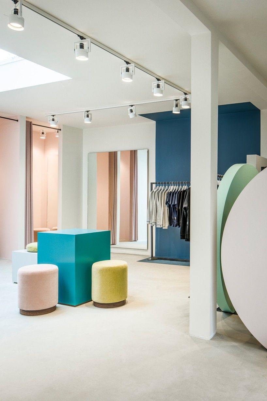 framework studio creates an elegant interior for amsterdam clothing rh pinterest com