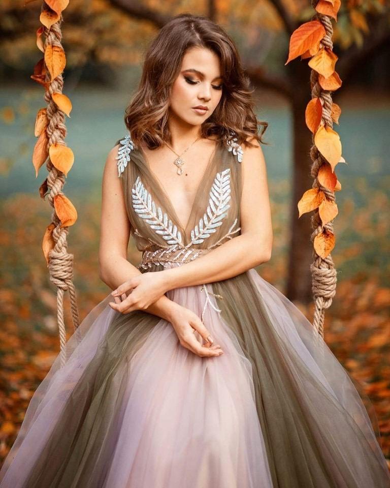 фотодевушка модель для свадебных платьев