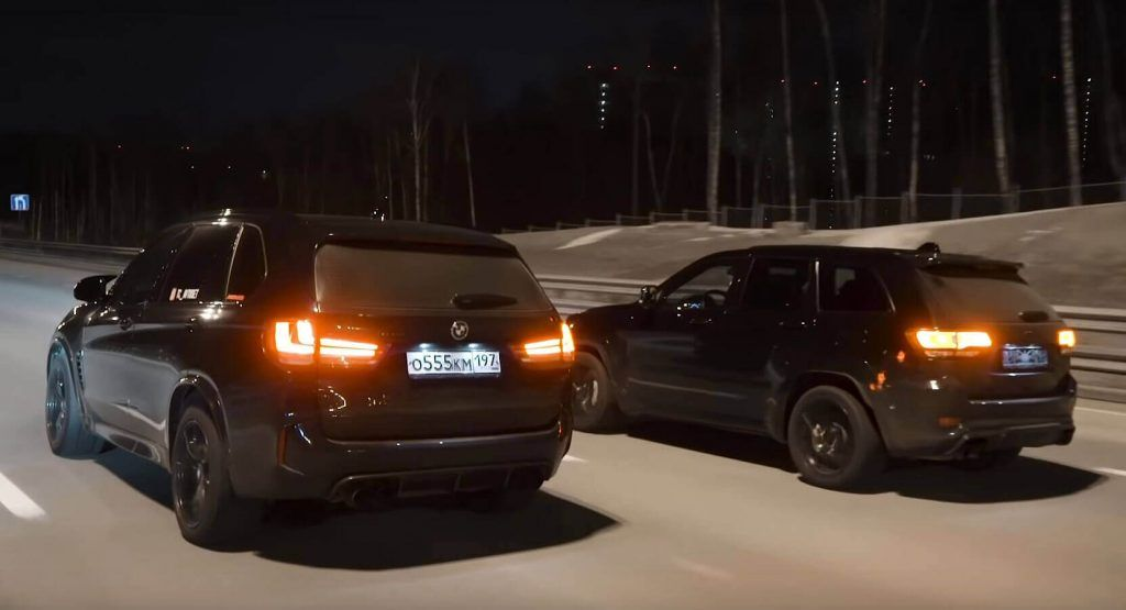 Jeep Grand Cherokee Trackhawk Meets Bmw X5 M In Super Suv Drag