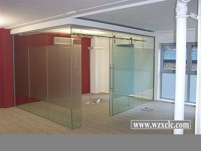 Modular Office Partitions Frosted Glass Sliding Doors   Modern ...