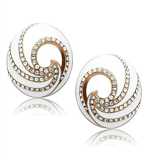 Rose Gold Crystal Earrings