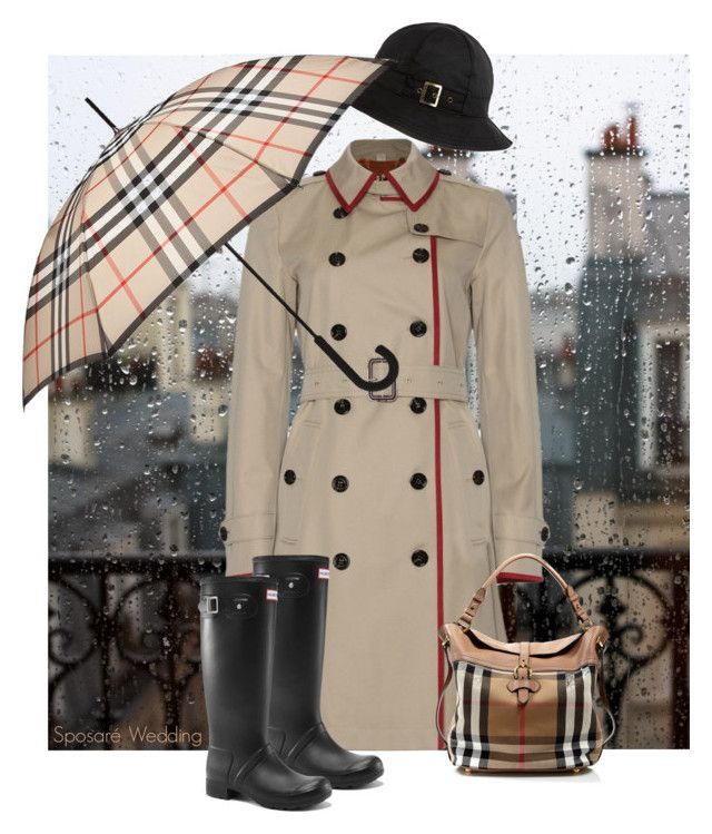 """Burberry Rain"" by sposare-wedding ❤ liked on Polyvore featuring Burberry, Barbour and Victoria's Secret"