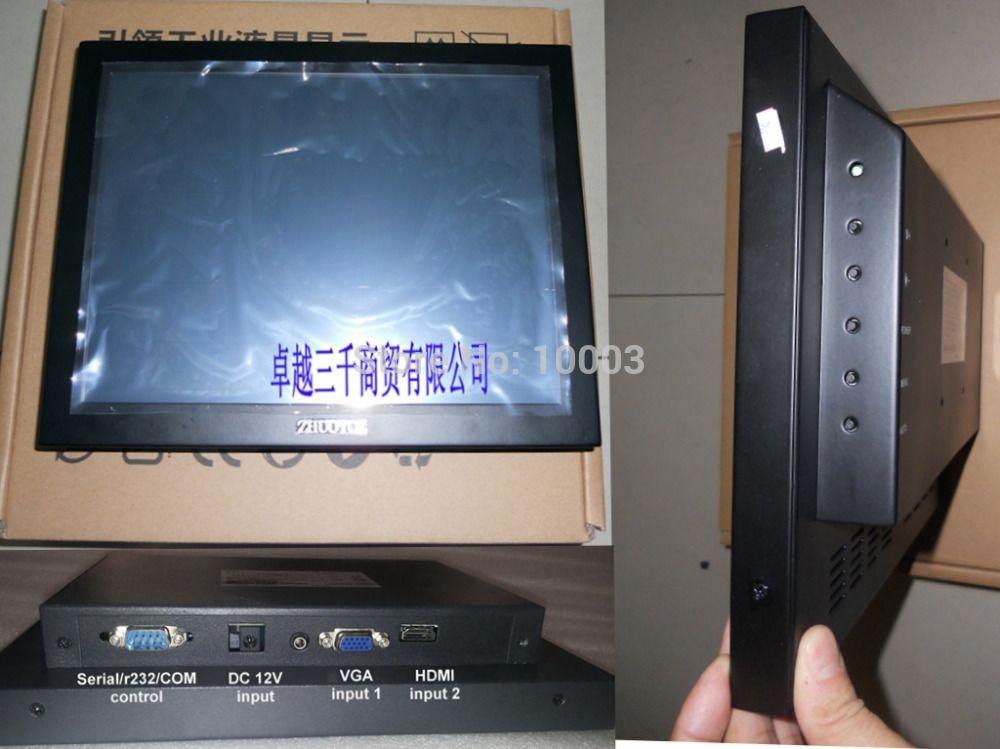 Aliexpress Com Buy 12 Open Frame Touchscreen Industrial Monitor 800 600 Hdmi Vga Input Metal Casing Usb 4 Wire Resistive Touch Scre Hdmi Vga Touch Screen