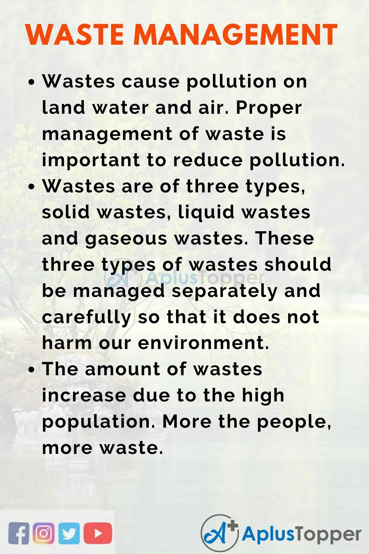 Wastemanagementspeech Aplustopper Essay Writing Competition Improve Skills Land Pollution
