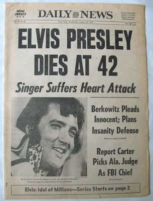 Elvis fans this is for you. I still remember when I heard the news. Do you? Let me know.