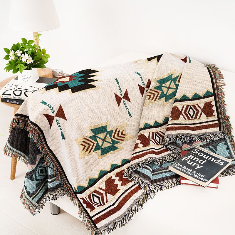 100/% cotton Handmade Sofa Cover Throw Chair Cover Blanket  Bed Sheet