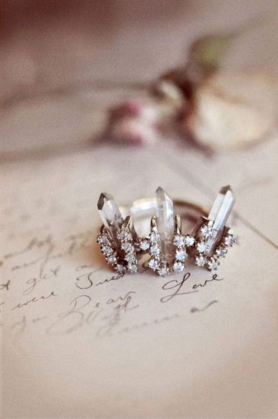 Jewels: ring engagement ring wedding ring wedding accessories crystal quartz crystal diamonds