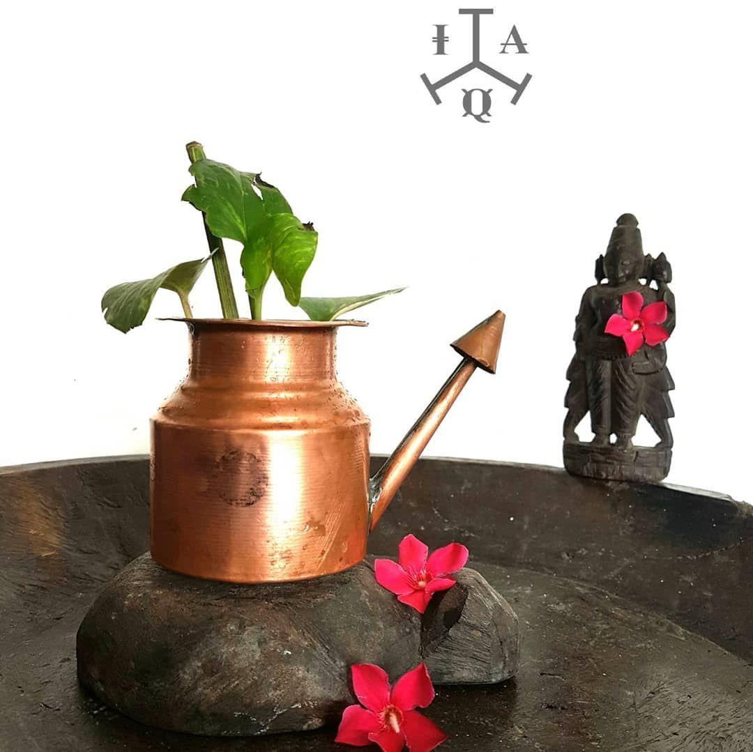 Antique Copper Perumal Thirtha Valangi An Unusual Shaped