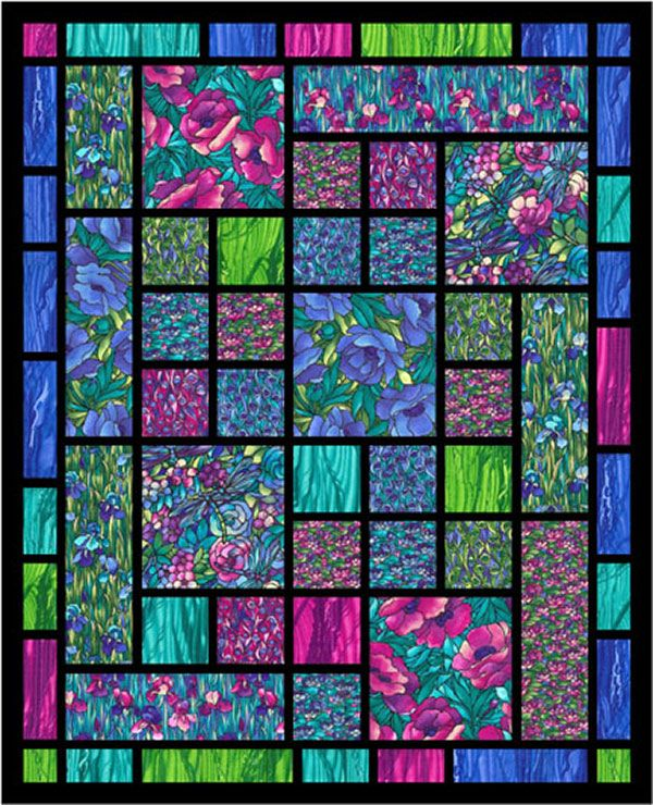 Quilts batik on pinterest batik quilts lap quilts and for Window pane quilt design