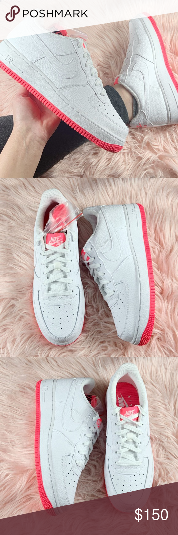 Nike Air Force 1 Sneakers Pink White