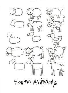 Life Science Domestic Animals On Pinterest Farm Animals Farms Drawing Lessons Arte De Jardin De Infantes Aula De Arte