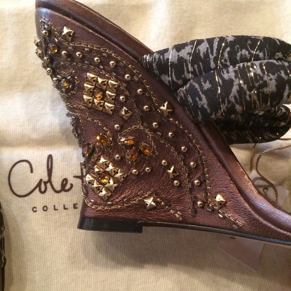 Cole Haan studded wedges Cole Haan studded wedges Never Worn Cole Haan Shoes Wedges