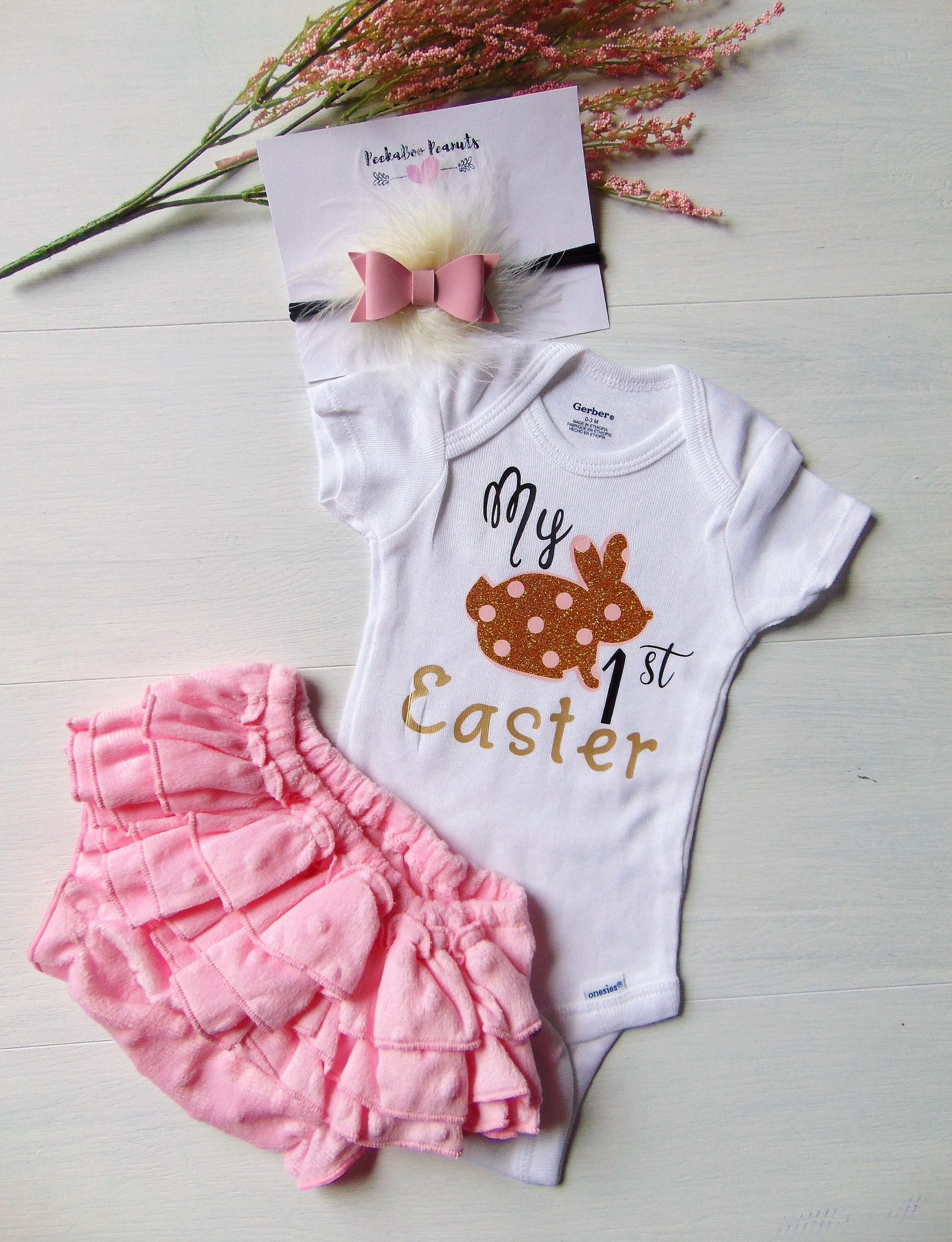 Easter for Newborns My First Easter Baby Girl Easter Outfit 1st Easter Outfit Easter Outfit Baby Girl Baby Easter Outfit