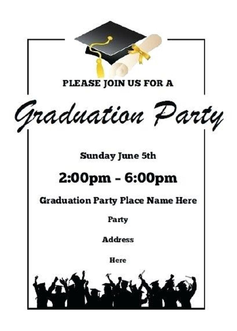 Printable Graduation Party Invitations Graduation Party Invitations Templates Graduation Invitations Template Graduation Party Invitations Printable