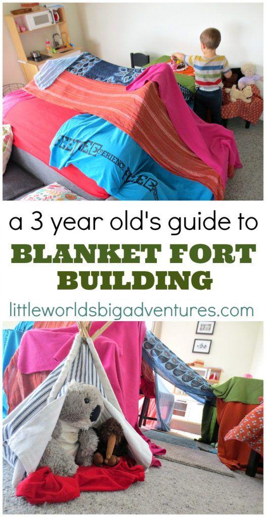 A 3 Year Old's Guide to Epic Blanket Fort Building | Little Worlds Big Adventures #blanket fort #fortbuilding #pretendplay #imagination #toddler #preschool #kidsactivities