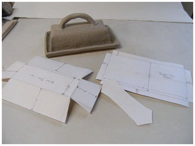 Pottery Dish Slab Butter Templates