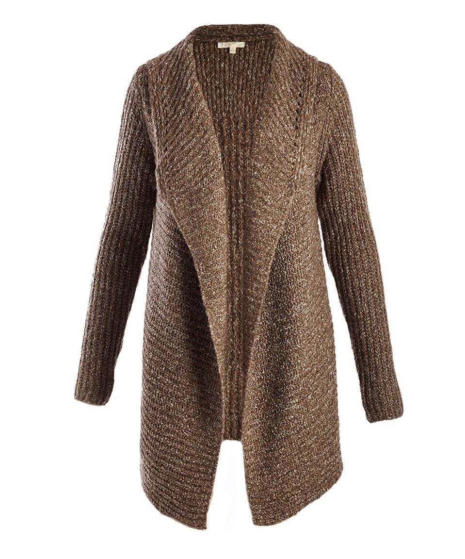 Take a look at this Mystree | Brown Open Cardigan today! | *000 ...