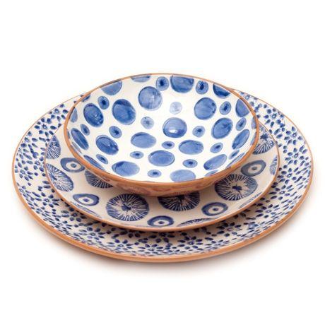 Ceramic plates  sc 1 st  Pinterest & terracotta hand-stamped dinnerware made in Portugal | spring 18 ...
