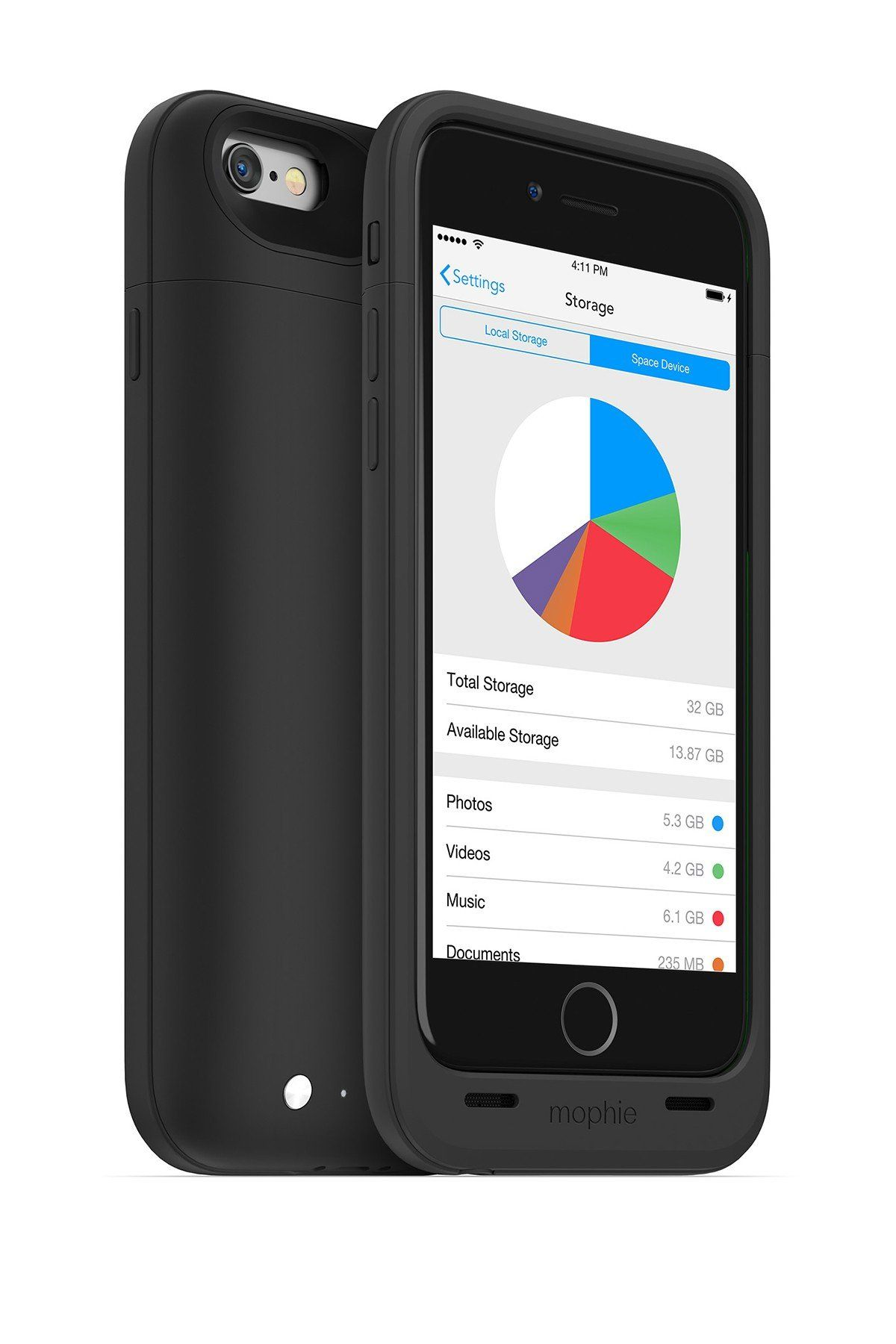 Black space pack protective iphone 66s case iphone mophie